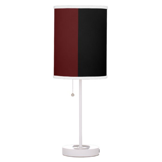 Garnet and Black Shaded Table Lamp