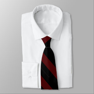 Garnet and Black University Stripe Tie