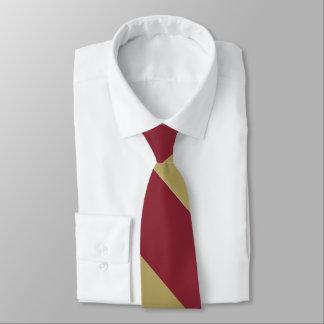 Garnet and Gold Broad University Stripe Tie