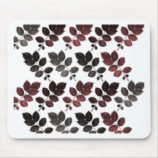 Garnet black leaves and mouse pad