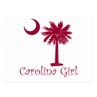 Garnet Carolina Girl Palmetto Postcard