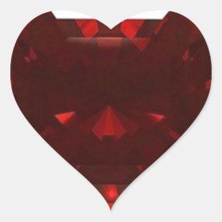 Garnet Gemstone January Birthstone by Sharles Heart Sticker