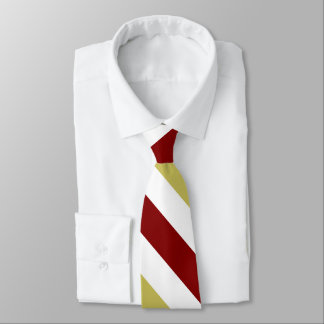 Garnet Gold and White Custom University Stripe Tie