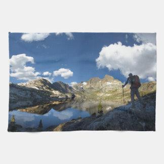 Garnet Lake and Banner Peak 2 - John Muir Trail Kitchen Towel