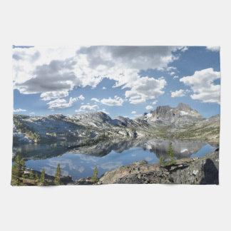 Garnet Lake and Banner Peak - John Muir Trail Kitchen Towel