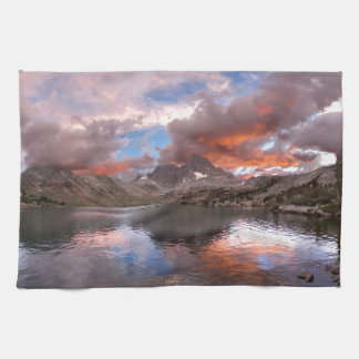 Garnet Lake Sunset On Banner Peak  John Muir Trail Towel