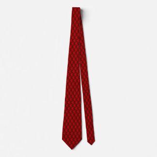 Garnet Red Faux Upholstery Pin Tucks Tie
