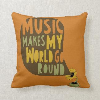 Garnit de coussins «Music makes my world go