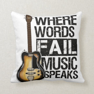 Garnit de coussins «Where Words fail music speaks