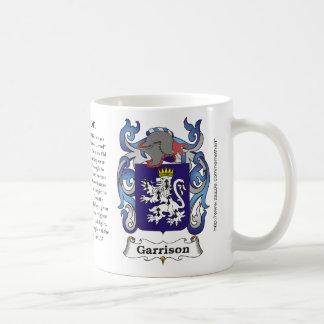Garrison Family Coat of Arms mug