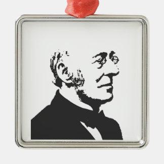 Garrison Silver-Colored Square Ornament