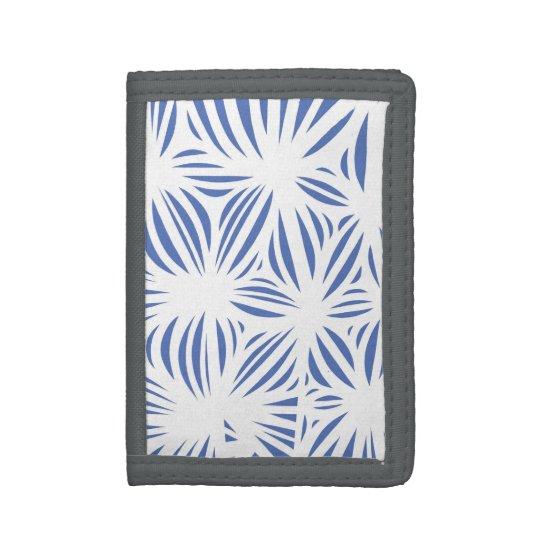 """Garten"" Men's TriFold Wallet Blue White"