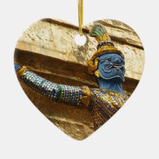Garuda alone ceramic heart ornament
