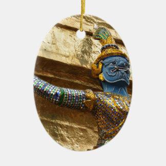 Garuda alone ceramic oval ornament