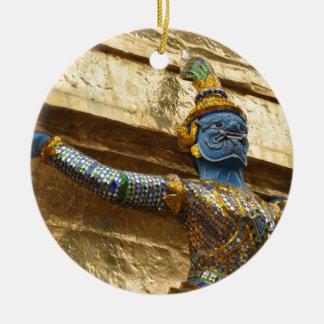 Garuda alone round ceramic ornament