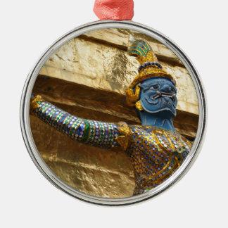 Garuda alone Silver-Colored round ornament