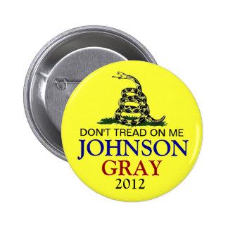 GARY JOHNSON 2012 2 INCH ROUND BUTTON