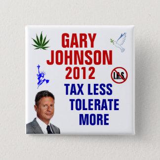 Gary Johnson 2012 2 Inch Square Button