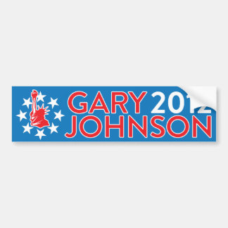 Gary Johnson 2012 Bumper Sticker