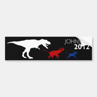 Gary Johnson 2012 Bumper Sticker Black