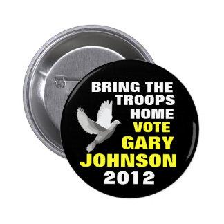 Gary Johnson 2012 peace 2 Inch Round Button