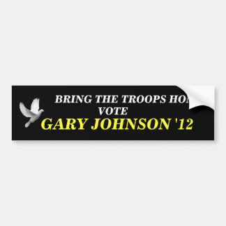 GARY Johnson 2012 peace STICKER