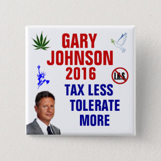 Gary Johnson 2016 2 Inch Square Button