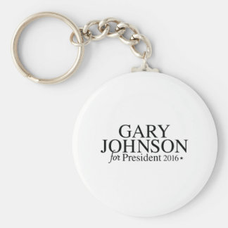 Gary Johnson 2016 Basic Round Button Keychain