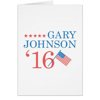 Gary Johnson 2016 Card