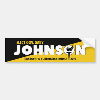 Gary Johnson 2016 Libertarian Voluntarist ancap Bumper Sticker