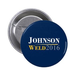 Gary Johnson - Bill Weld 2016 Campaign Logo 2 Inch Round Button