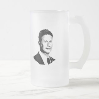 Gary Johnson Bust - -  Frosted Glass Beer Mug