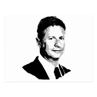 Gary Johnson Bust - -  Postcard