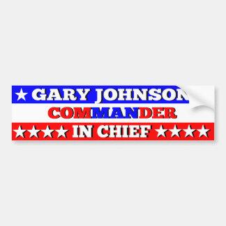 Gary Johnson Commander in Chief Bumper Sticker