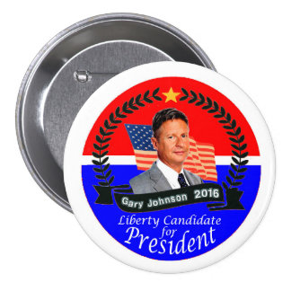 Gary Johnson for President 2016 3 Inch Round Button