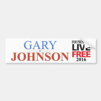 Gary Johnson For President - 2016 - Bumper Sticker