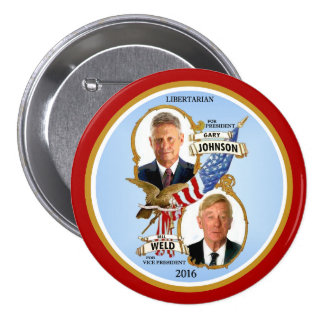 Gary Johnson for President 3 Inch Round Button