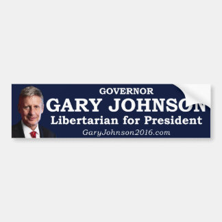Gary Johnson for President Bumper Sticker