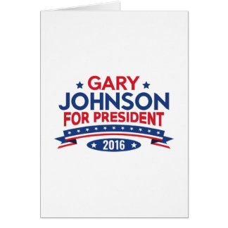 Gary Johnson For President Card