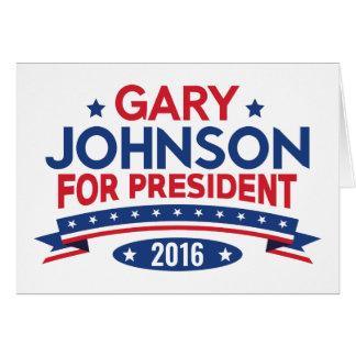 Gary Johnson For President Card