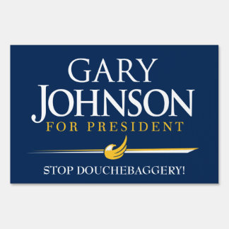 Gary Johnson for President Customizable Yard Signs