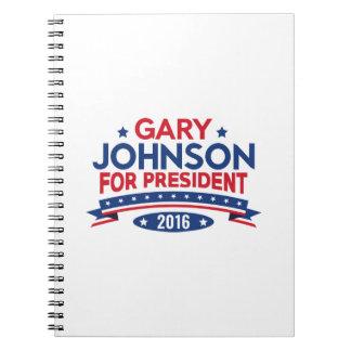Gary Johnson For President Notebook