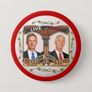 Gary Johnson / Jim Gray in 2012 3 Inch Round Button