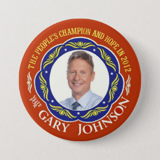 Gary Johnson Libertarian for President 2012 3 Inch Round Button