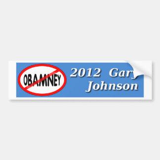 Gary Johnson NO OBAMNEY 2012 bumper sticker