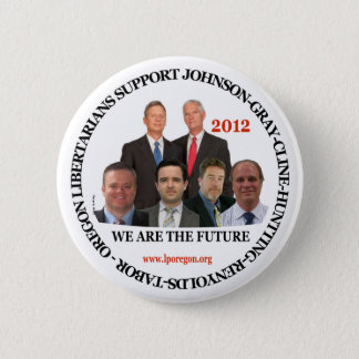 Gary Johnson Oregon Libertarians 2 Inch Round Button