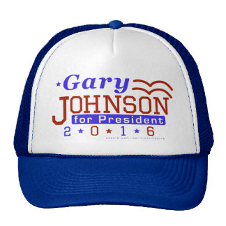 Gary Johnson President 2016 Election Libertarian Trucker Hat