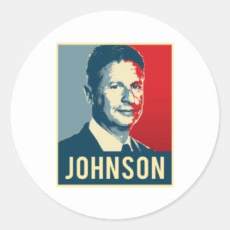 Gary Johnson Propaganda Poster - -  Round Sticker
