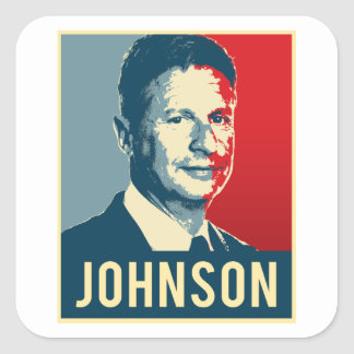 Gary Johnson Propaganda Poster - -  Square Sticker