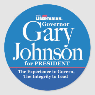 Gary Johnson Stickers